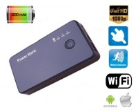 Špionážní power bank 3000mAh se skrytou WiFi kamerou Full HD